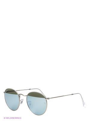 Очки солнцезащитные ROUND METAL Ray Ban. Цвет: зеленый, серебристый