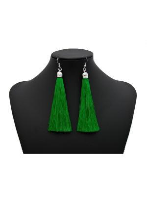 Серьги Miss Bijou. Цвет: зеленый, серебристый