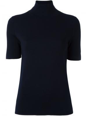 Джемпер с короткими рукавами Allude. Цвет: синий