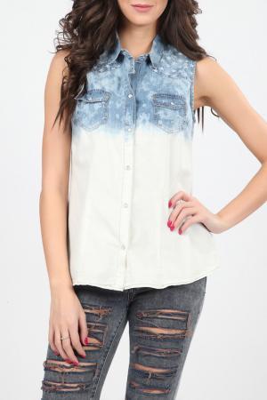 Рубашка Christina Dea. Цвет: белый