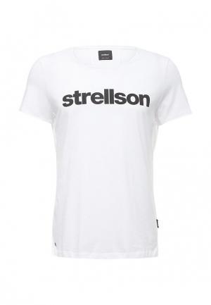 Футболка Strellson. Цвет: белый