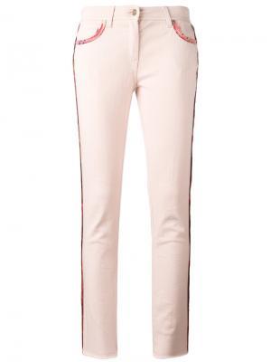 Укороченные джинсы с ремешком Etro. Цвет: розовый и фиолетовый