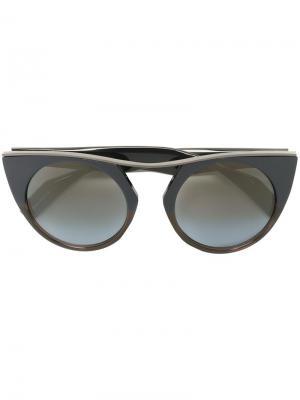 Солнцезащитные очки в оправе кошачий глаз Yohji Yamamoto. Цвет: синий