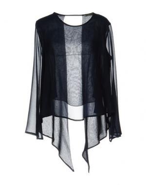 Блузка PAOLO CASALINI. Цвет: темно-синий