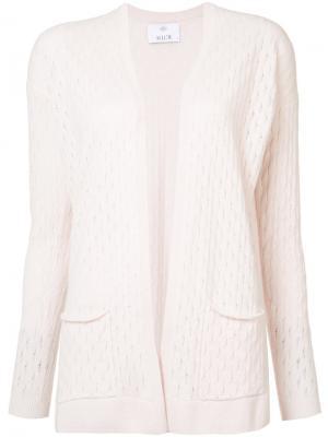 Кашемировый кардиган с карманами Allude. Цвет: розовый и фиолетовый
