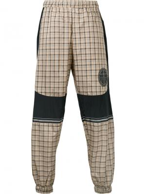 Logo patch checked trousers Astrid Andersen. Цвет: телесный
