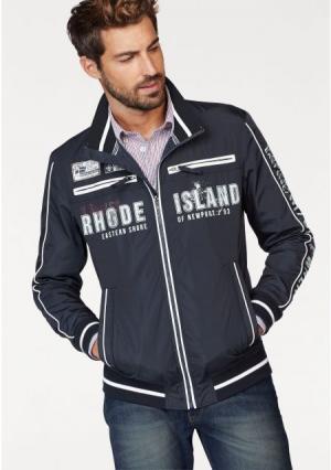 Куртка бомбер Rhode Island. Цвет: темно-синий