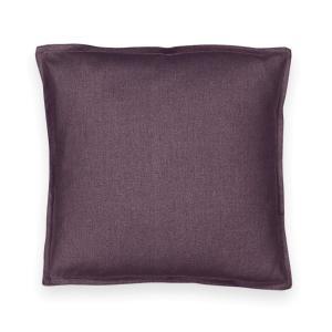 Чехол на подушку из льна/хлопка TAÏMA La Redoute Interieurs. Цвет: белый,бледный сине-зеленый,розовое дерево,светло-серо-коричневый,светло-серый,серо-бежевый,серо-синий,сливовый,темно-серый,экрю