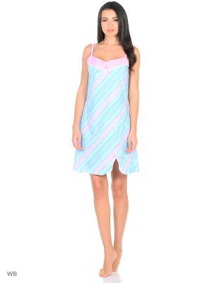 Ночная сорочка HomeLike. Цвет: зеленый, голубой, розовый