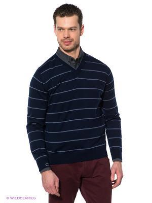 Пуловер Navigare. Цвет: синий, серо-голубой