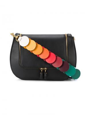 Сумка с лямкой из разноцветных звеньев vere Anya Hindmarch. Цвет: чёрный