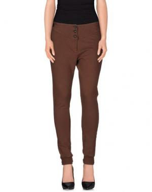 Повседневные брюки ANIYE BY. Цвет: какао