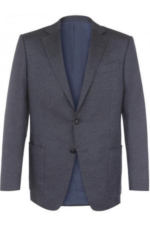 Однобортный пиджак Ermenegildo Zegna. Цвет: голубой