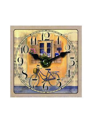 Часы настольные Велосипед Magic Home. Цвет: белый