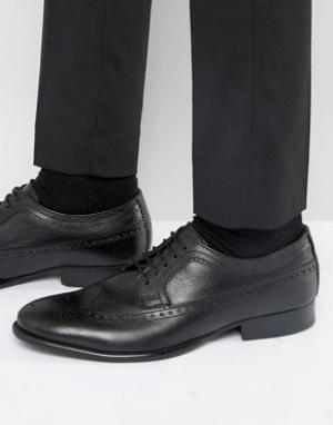 Base London Кожаные оксфордские туфли Bailey. Цвет: черный
