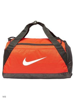 Сумки NK BRSLA S DUFF Nike. Цвет: красный