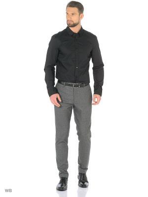 Рубашка MUSTANG. Цвет: черный, синий