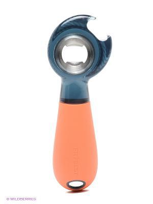 Многофункциональная открывашка Frybest. Цвет: оранжевый, прозрачный