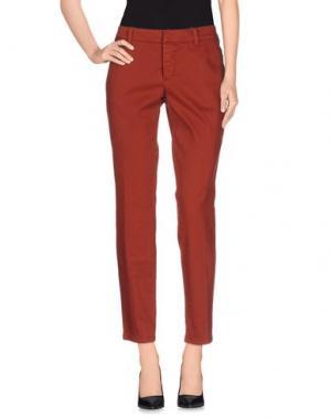 Повседневные брюки SET. Цвет: ржаво-коричневый