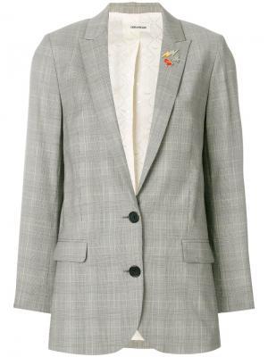 Пиджак Viva Check Zadig & Voltaire. Цвет: серый