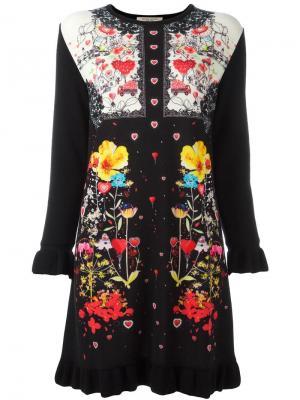 Вязаное платье с длинными рукавами Piccione.Piccione. Цвет: чёрный