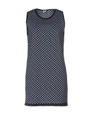 Короткое платье AKEP. Цвет: темно-синий