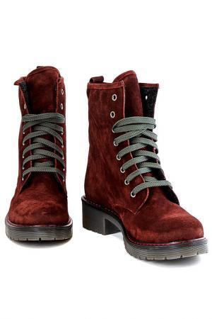 Ботинки Elena. Цвет: красный
