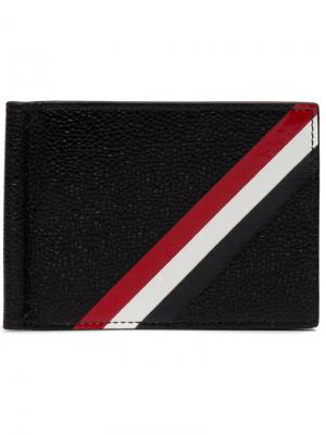 Бумажник с зажимом для купюр Thom Browne. Цвет: чёрный