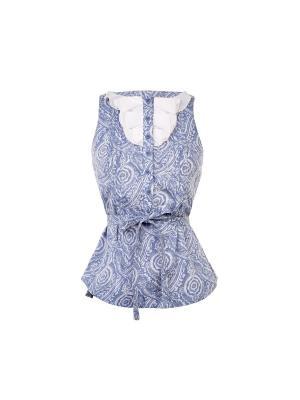 Блузка Lolly. Цвет: синий