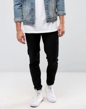 Farah Черные стретчевые джинсы суперскинни Howells. Цвет: черный