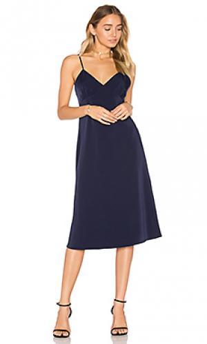 Платье миди jenna House of Harlow 1960. Цвет: синий
