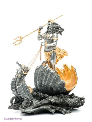 Статуэтка Посейдон - Бог морей Veronese. Цвет: серый, золотистый