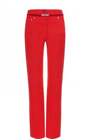 Однотонные джинсы прямого кроя Valentino. Цвет: красный