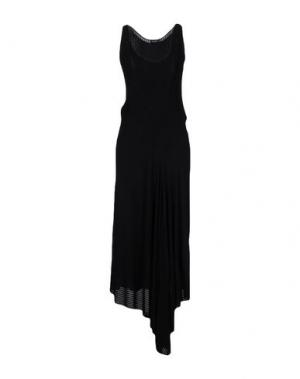 Длинное платье ATLEIN. Цвет: черный
