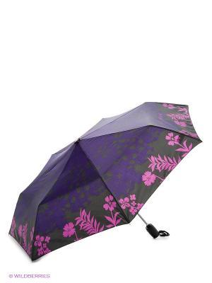 Зонт Isotoner. Цвет: фиолетовый, розовый, черный
