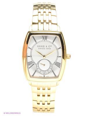 Часы наручные HAAS & Cie SFYH 006 JSA. Цвет: золотистый, белый, серебристый
