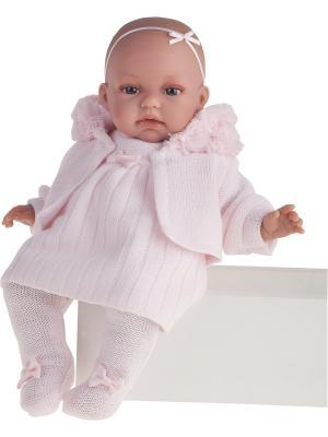 Кукла Стефания, озвученная,34см Antonio Juan. Цвет: бледно-розовый