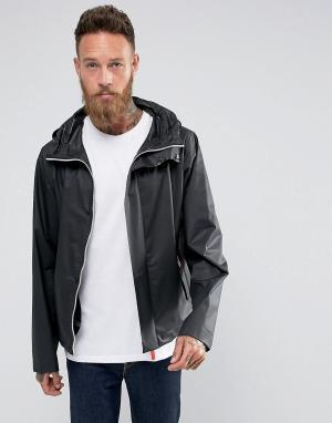 Hunter Черная куртка с капюшоном Raincheater. Цвет: черный