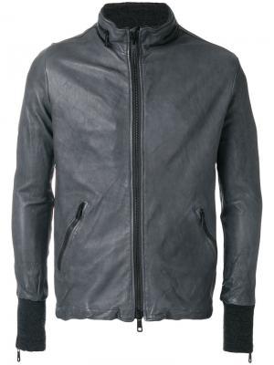 Байкерская куртка на молнии Giorgio Brato. Цвет: серый