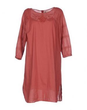 Короткое платье LOCAL APPAREL. Цвет: кирпично-красный