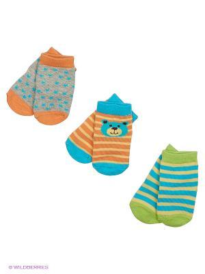 Носки, 3 пары Luvable Friends. Цвет: голубой