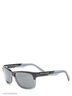 Солнцезащитные очки Porsche Design. Цвет: черный, синий