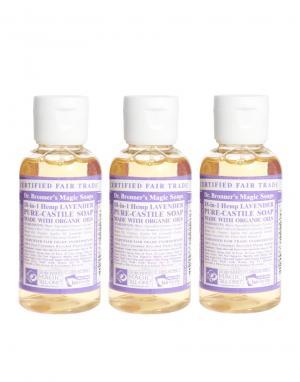 Organic Lavender Mini Liquid Soap Set Dr. Bronner. Цвет: лаванда