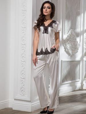 Пижама MIA-AMORE. Цвет: молочный, черный
