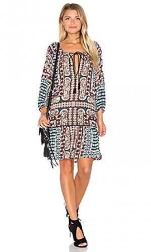Короткое платье ashton Cleobella. Цвет: сине-зеленый