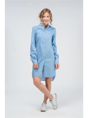 Рубашка YULIA'SWAY. Цвет: голубой