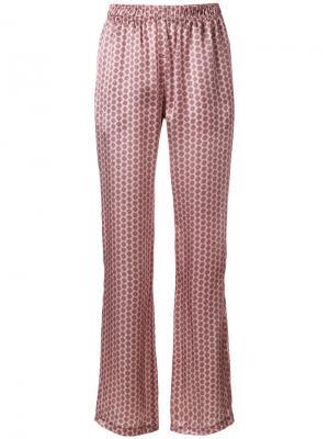 Расклешенные брюки с вышивкой Faith Connexion. Цвет: розовый и фиолетовый