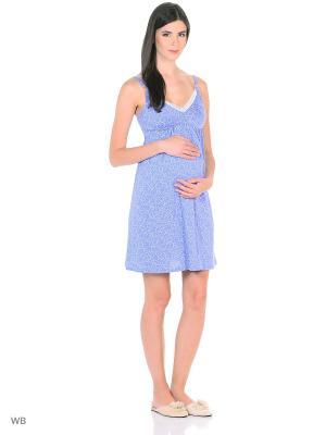 Ночная сорочка Hunny Mammy. Цвет: сиреневый, белый