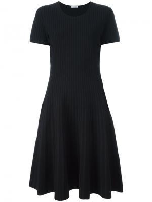 Полосатое платье с линялым эффектом Tomas Maier. Цвет: синий