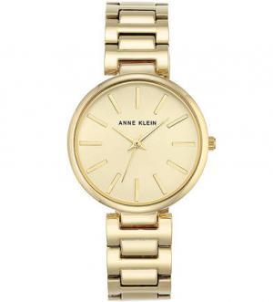 Кварцевые часы с золотистым металлическим браслетом Anne Klein